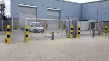 Green Gate Access Systems - Innovative sliding security for Triptych Logistics
