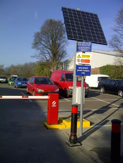 O&O Solar Powered Car Park Barrier - Warwick Hospital