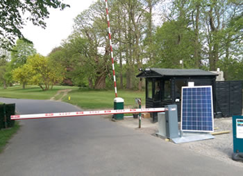 Green Gate Access Systems - Leeds Castle trade entrance with SOSEC barrier