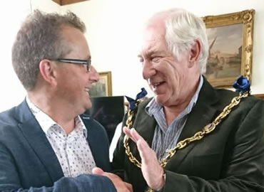 Green Gate Access Systems - Neil Sampson meeting Maidstone Mayor Malcolm Greer