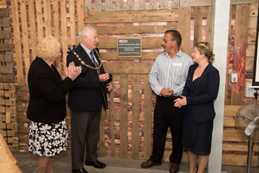 Green Gate Access Systems - Maidstone Mayor Malcolm Greer unveiling a plaque